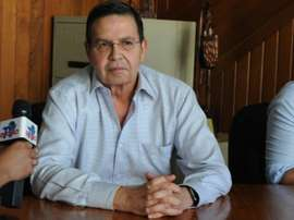 Former Honduran President Rafael Callejas, pictured here on December 3, 2015 in Tegucigalpa, is accused of receiving $1.6 million in bribes between March 2011 and January 2013 for broadcast rights of games played by the Honduran national team