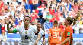 Rapinoe opened the scoring for the USA in their World Cup final triumph. AFP