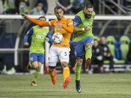 Dempsey scored in Seattle Sounders' 3-0 victory in the second leg against Houston Dynamo. AFP
