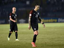 USAs Geoff Cameron leaves the field in dejection after being defeated by Guatemala 2-0 in a 2018 FIFA World Cup qualifying football match, in Guatemala City, on March 25, 2016