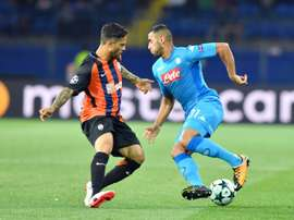 Ghoulam could miss much of the rest of the season. AFP
