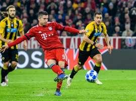 Lewandowski scored twice in Bayern's victory. AFP
