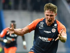Souquet scored the only goal of the game in Montpellier's win. AFP
