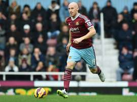 Former 'Irons' player has joined Villa for a short period. AFP