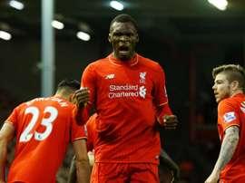 Christian Benteke pourra quitter Liverpool s'il reçoit une offre intéressante. AFP