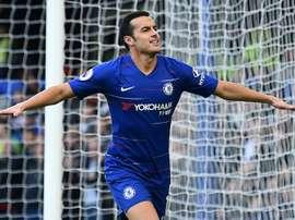 Pedro opened the scoring at Stamford Bridge. AFP