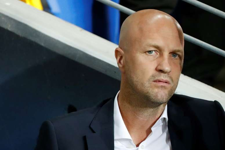 Jordi Cruyff will set down at the end of the season. AFP
