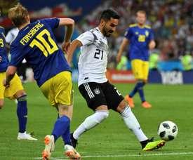 Alemania no podrá contar con Gündogan ante Holanda y Francia. AFP