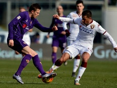 Josip Ilicic (left) curled in his tenth goal of the season for Fiorentina against Torino