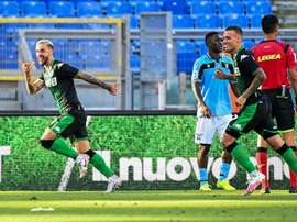Caputo's 92nd minute goal gave Sassuolo victory at Lazio. AFP