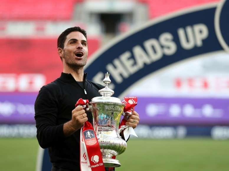 El Arsenal le habría echado el lazo a Omar Rekik, central del filial del Hertha Berlin. AFP