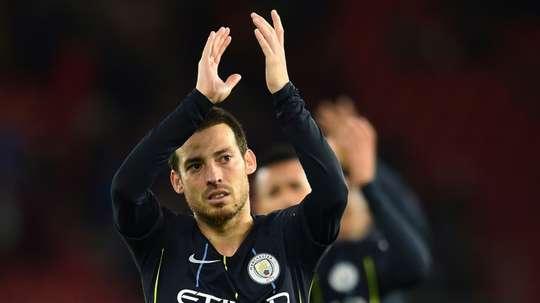 Les supporters de City veulent que Silva reste un an de plus. AFP