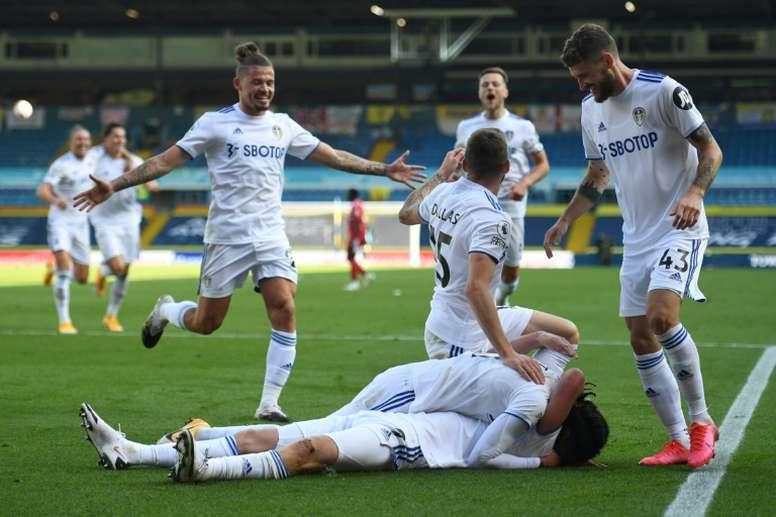 Leeds won 4-3. AFP