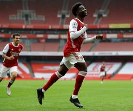 Bukayo Saka broke the deadlock in Arsenal's win over Sheffield United. AFP