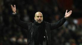 Guardiola considerou os festejos normais. AFP