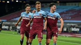 West Ham consegue uma vitória histórica contra o Chelsea. AFP