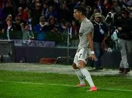 Cristiano Ronaldo scored on his return to the Juventus team. AFP