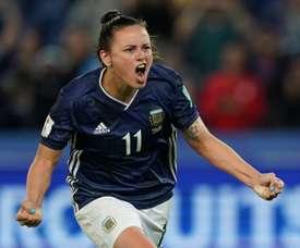 Scotland threw away a three-goal lead against Argentina. AFP