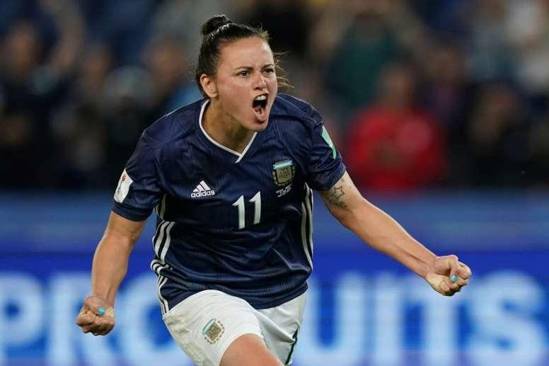 La remontada de Argentina, récord de 'share' en el fúbtol femenino. AFP