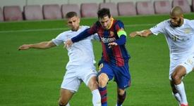 Bartomeu anunció la inscripción del Barça en la Superliga Europea. AFP