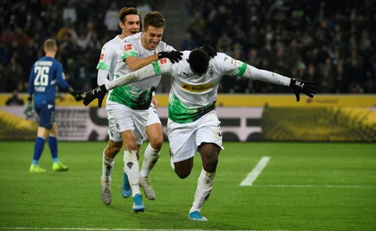 Embolo scored a double in Gladbach's win over Freiburg. AFP