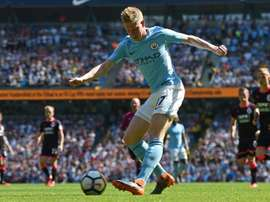 De Bruyne had been out of action since the opening day of the season. AFP