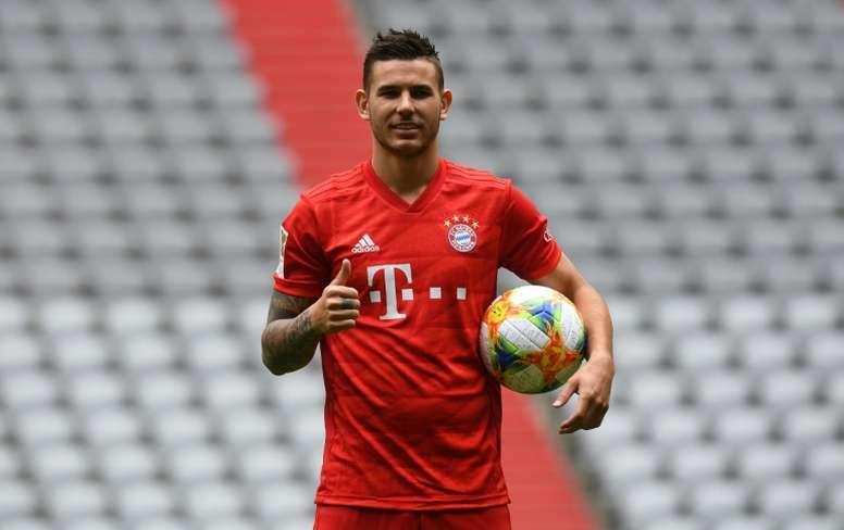 Lucas Hernandez ha cumplido un año en el Bayern. AFP/Archivo