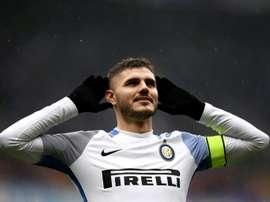 Icardi fez 29 gols na Serie A. AFP