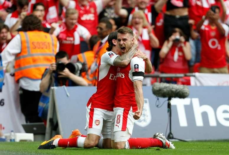 Ramsey marcou o gol que deu os três pontos ao Arsenal. AFP