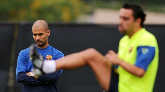 Berbatov says he never faced a side better than Guardiola's Barca. AFP