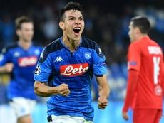 Napoli won 2-1. AFP