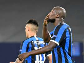 Lukaku helped Inter Milan progress to the Europa League quarter-finals. AFP