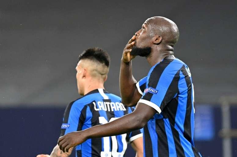 Lukaku helped Inter Milan progress to the Europa League quarter-finals. AFP