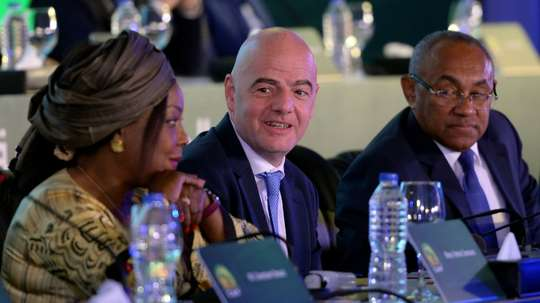Infantino will be up for re-election for the first time. AFP