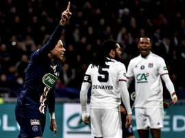 Mbappe scored thrice in PSG win over Lyon in French Cup. AFP