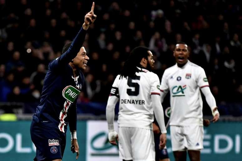 Mbappé se pone 'gallito' y mete al PSG en la final. AFP