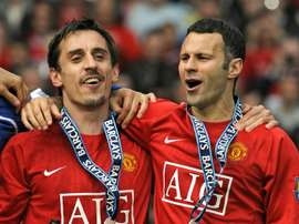 Neville and Giggs are co-owners at Salford. AFP