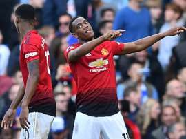 Martial impressed again against Chelsea. AFP