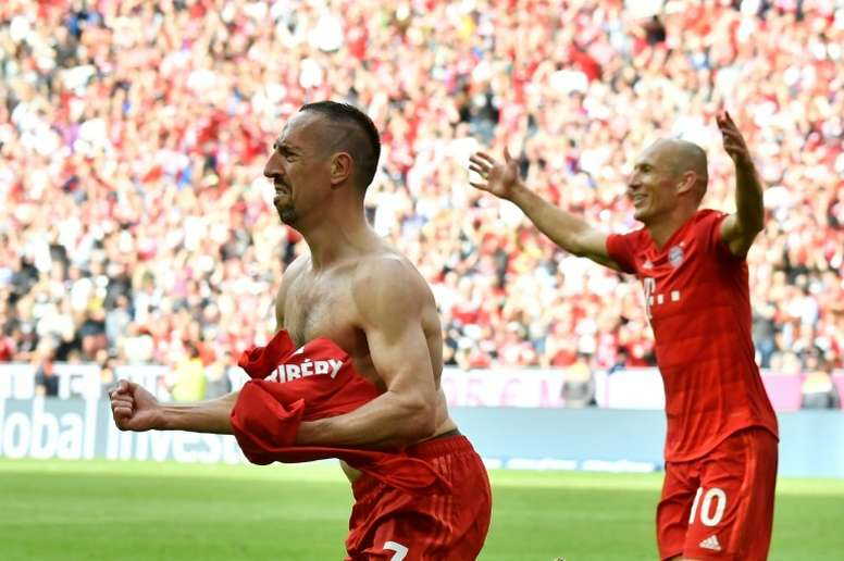Ribery scored a stunning solo goal on his final apperance for Bayern. AFP
