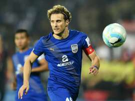 Diego Forlan joins Hong Kong club Kitchee. AFP