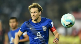 Diego Forlan joins Hong Kong club Kitchee. AFP