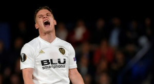 Valencia's Gameiro is unavailable for Wednesday's match-up with Sevilla. AFP