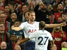 Kane opened the scoring at Old Trafford. AFP