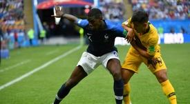 Arzani jugó el Mundial de Rusia con Australia. AFP