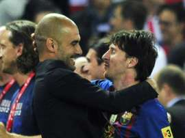 Lionel Messi could rejoin his old mentor Pep Guardiola. AFP