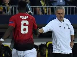 Pogba's recent performances have pleased Mourinho. AFP