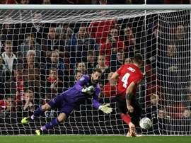 Penalty drama. AFP