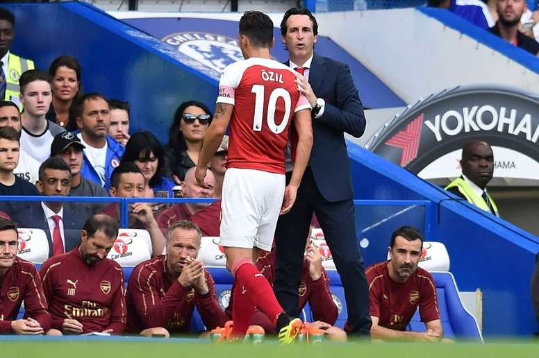 Emery insists he has a good relationship with Ozil. AFP