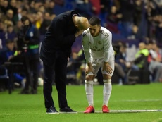 Eden Hazard is fit for the game with Valladolid on Wednesday. AFP