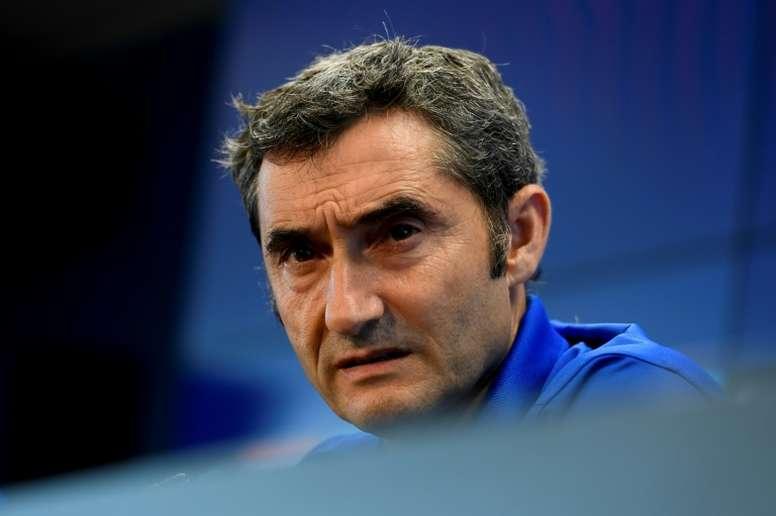 Le tirage de Ligue des Champions n'a pas beaucoup plu à Valverde. AFP
